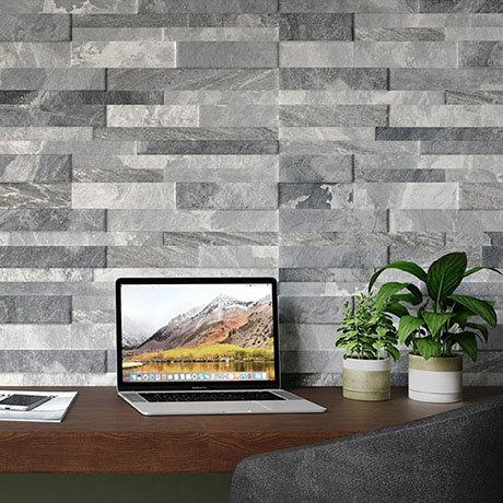 Runda Grey Split Face Tiles - 303 x 613mm