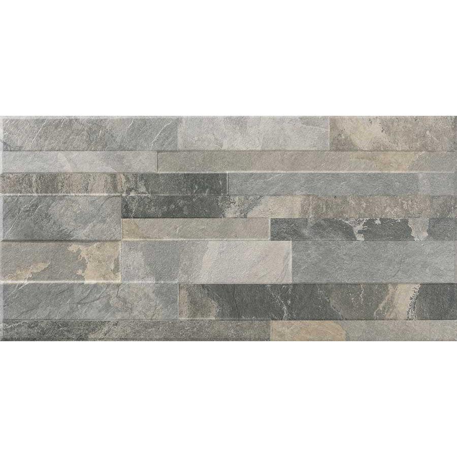 Runda Mixed Slate Effect Split Face Tiles - 303 x 613mm