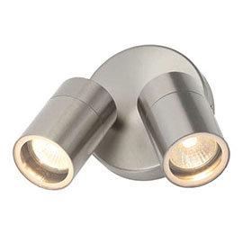 Revive Outdoor Stainless Steel Adjustable Twin Spotlights