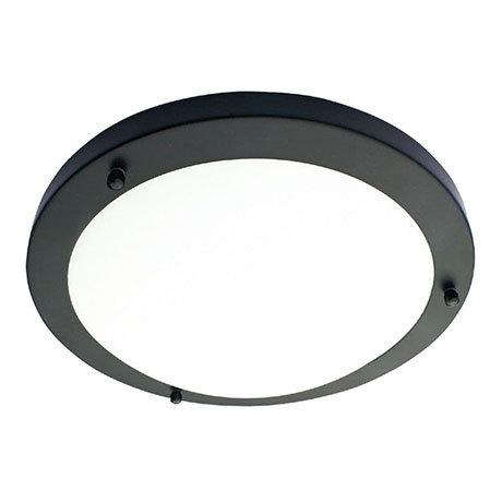 Revive Satin Black Small LED Flush Bathroom Ceiling Light