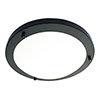 Revive Satin Black Small LED Flush Bathroom Ceiling Light profile small image view 1