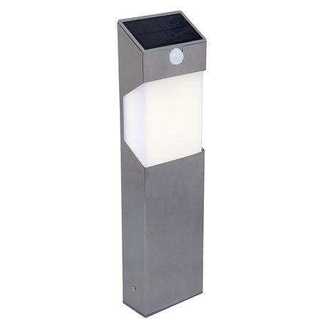 Revive Outdoor Solar PIR Stainless Steel Bollard Light