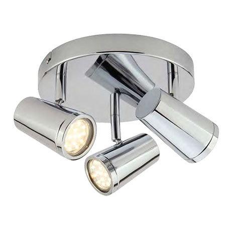 Revive Chrome 3-Light Bathroom Ceiling Spotlight