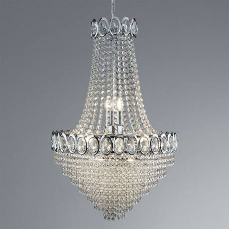 Revive Small Chrome Crystal Chandelier
