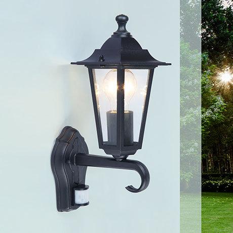 Revive Outdoor Traditional PIR Black Up Lantern
