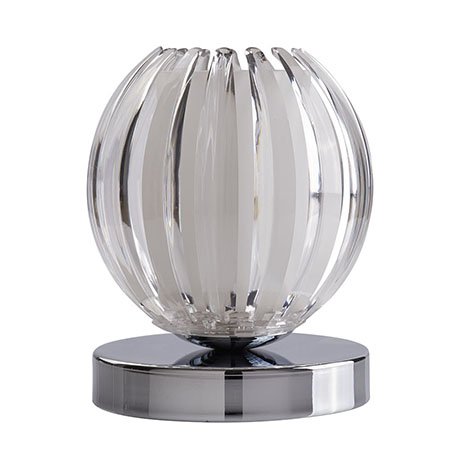 Revive Chrome & Frosted Glass Touch Globe Table Lamp