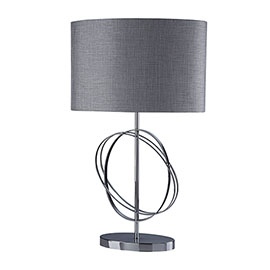 Revive Silver / Chrome Ring Table Lamp