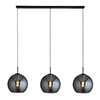 Revive Bar Pendant Light - Smoked Glass, 3 Light profile small image view 1