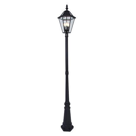 Revive Outdoor Solar Bronze 6-Panel Tall Post Lantern