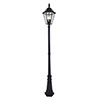 Revive Outdoor Solar Bronze 6-Panel Tall Post Lantern profile small image view 1