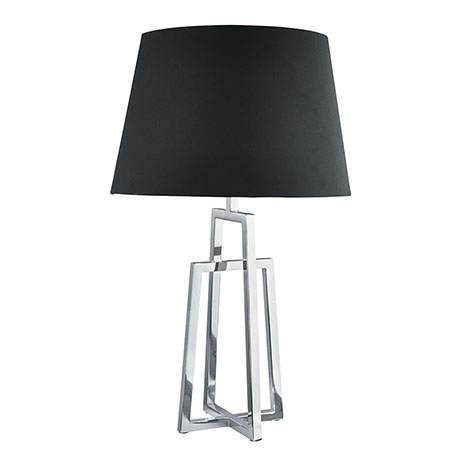 Revive Chrome Frame Table Lamp with Black Tapered Shade