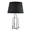 Revive Chrome Table Lamp with Tapered Black Lamp Shade profile small image view 1