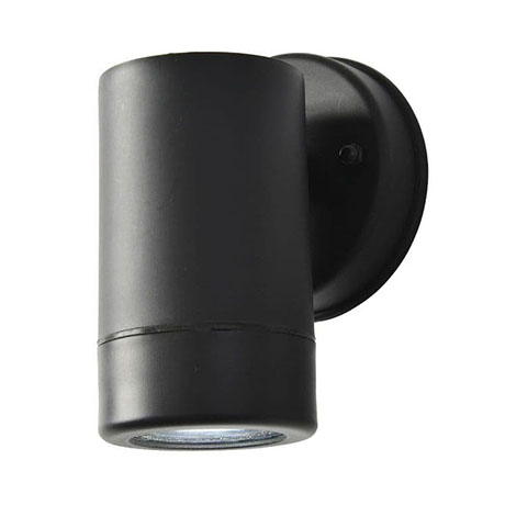 Revive Outdoor Black Wall Downlight