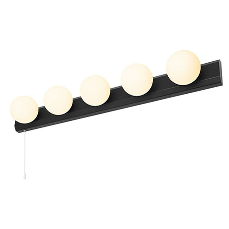 Revive Matt Black Hollywood 5-Light Wall Light