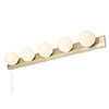Revive Satin Brass Hollywood 5-Light Wall Light profile small image view 1