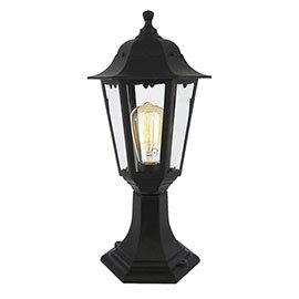 Revive Outdoor Black 6-Panel Post Lantern