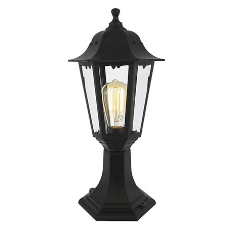 Revive Outdoor Black 6-Panel Post Lantern
