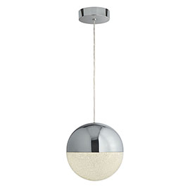 Revive Chrome Globe LED Pendant Ceiling Light
