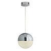 Revive Chrome Globe LED Pendant Ceiling Light profile small image view 1
