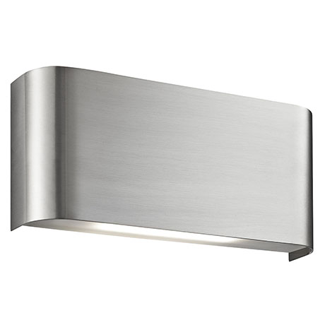 Revive LED Satin Silver Curved Up & Down Wall Light