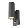 Revive Outdoor Anthracite PIR Up & Down Wall Light profile small image view 1