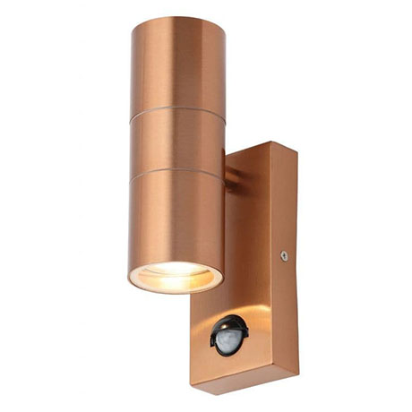 Revive Outdoor Copper PIR Up & Down Wall Light