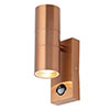 Revive Outdoor Copper PIR Up & Down Wall Light profile small image view 1
