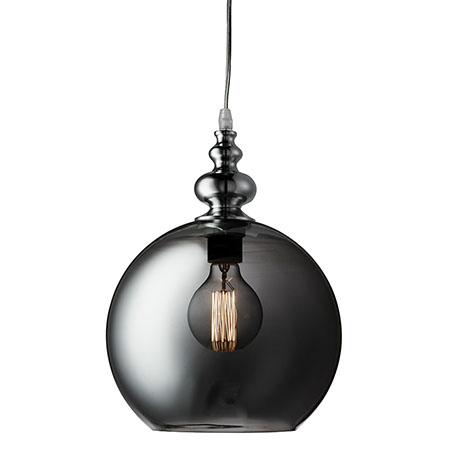 Revive Smoked Glass Orb Pendant Light