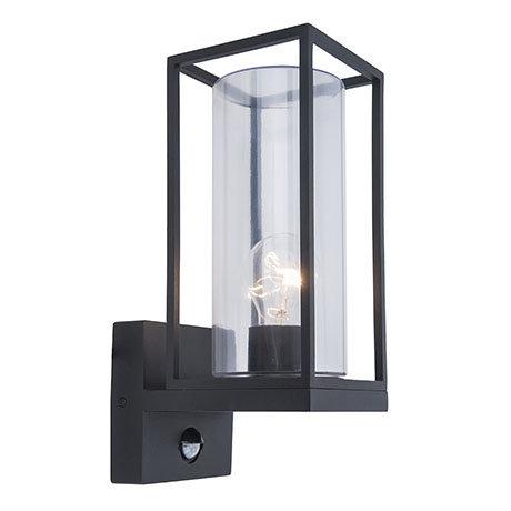 Revive Outdoor PIR Matt Black Frame Wall Light