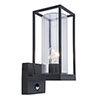 Revive Outdoor PIR Matt Black Frame Wall Light profile small image view 1
