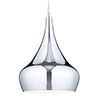 Revive Chrome Glass Droplet Pendant Ceiling Light profile small image view 1