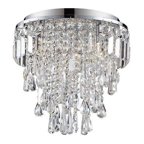 Revive 3-Light Crystal Flush Bathroom Ceiling Light