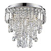 Revive 3-Light Crystal Flush Bathroom Ceiling Light profile small image view 1