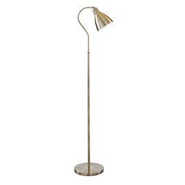 Revive Brass Flexi Neck Floor Lamp