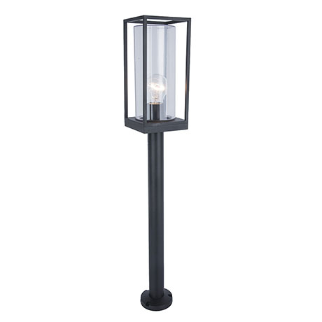 Revive Outdoor Matt Black Frame Bollard Light