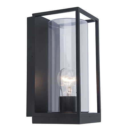 Revive Outdoor Small Matt Black Frame Wall Light