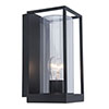 Revive Outdoor Small Matt Black Frame Wall Light profile small image view 1