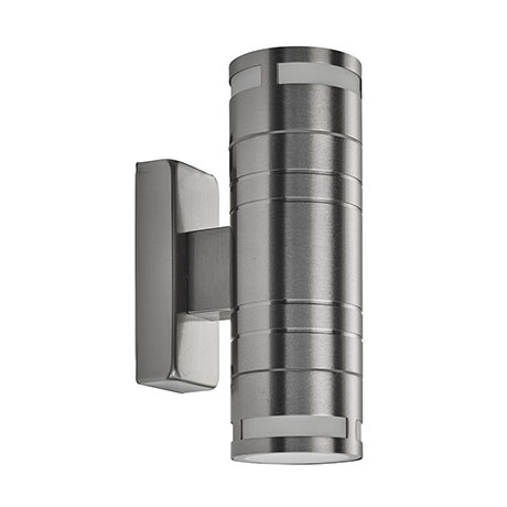 Revive Outdoor Stainless Steel Tube Up & Down Wall Light
