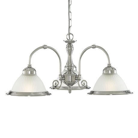 Revive Classic Diner 3-Light Satin Silver Light