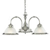 Revive Glass Diner Light Fitting - 3 Light profile small image view 1