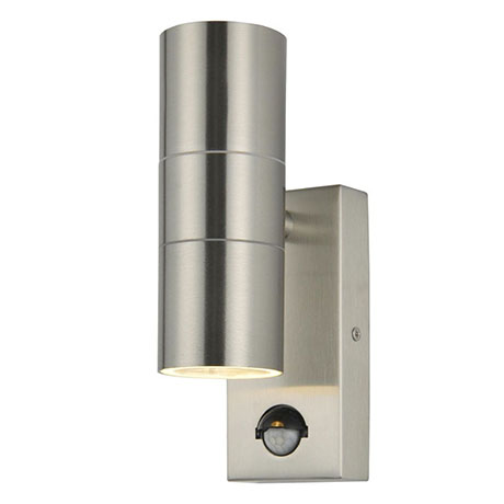 Revive Outdoor Stainless Steel Up & Down Wall Light with PIR Sensor