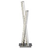 Revive Chrome Crystal Twin Column Table Lamp profile small image view 1