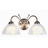 Revive Antique Brass 2-Light Wall Light with Alabaster Glass Shades profile small image view 1