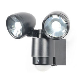 Revive Outdoor Black Security Sensor Wall Light