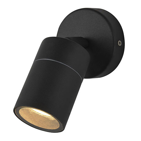 Revive Outdoor Black Adjustable Wall Light
