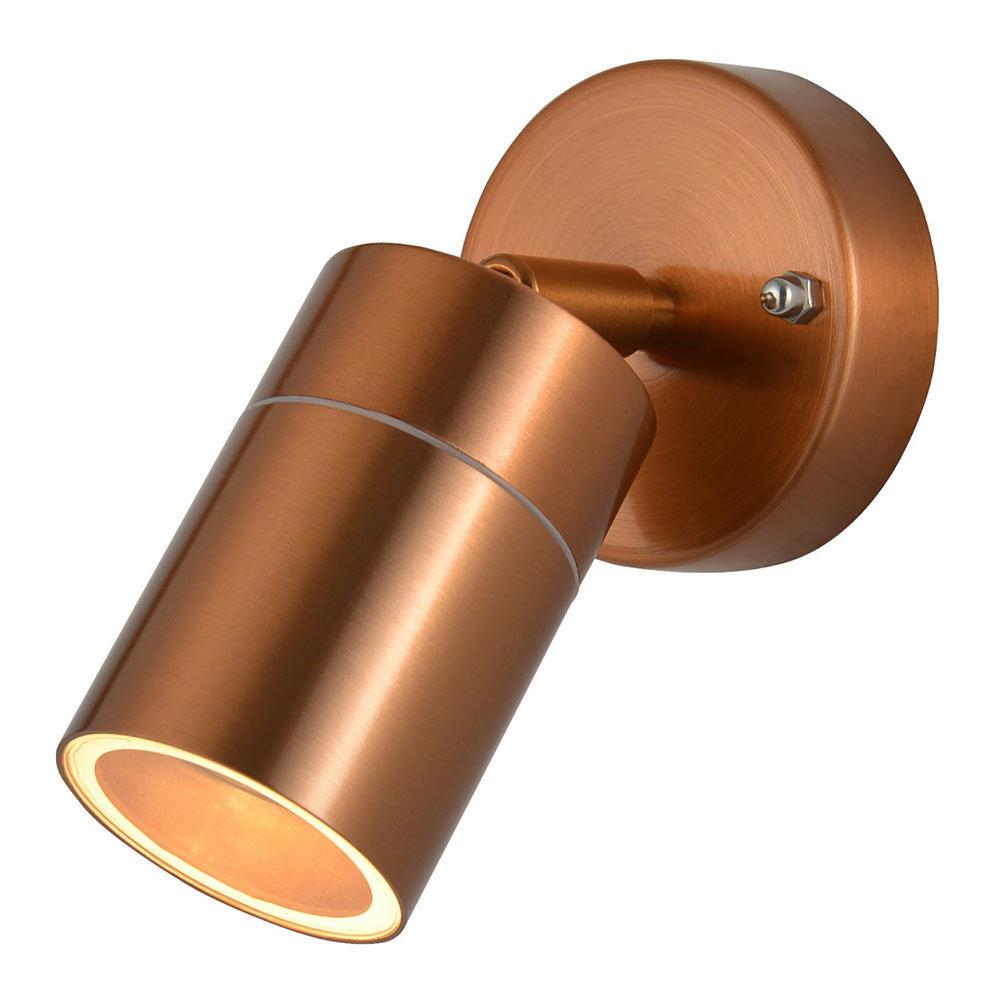 Revive Outdoor Copper Adjustable Wall Spotlight