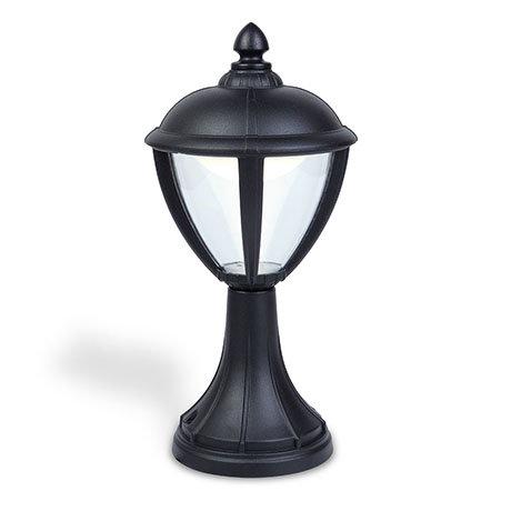 Revive Outdoor Matt Black LED Pedestal Lantern