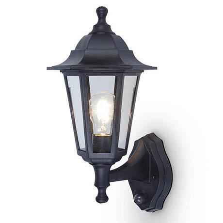 Revive Outdoor Coast PIR Black Up Lantern