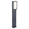Revive Outdoor PIR Square Anthracite Bollard Light profile small image view 1