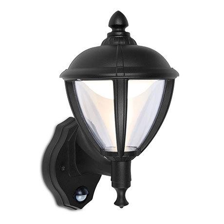 Revive Outdoor PIR Matt Black LED Up Lantern